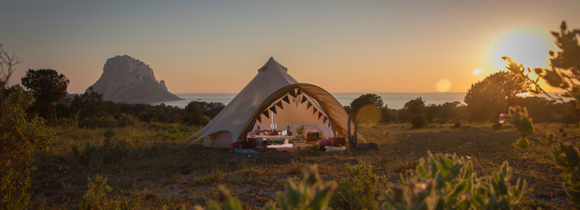 Bell Tent Glamping in France
